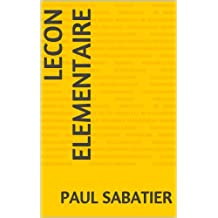 lecon elementaire (French Edition)