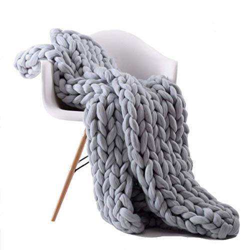 HooyFeel Chunky Knit Blanket Queen Knitted Pet Bed Chair...