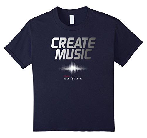 Create Dj Music (Kids Create Music DJ Disc Jockey Musicians T-Shirt 12 Navy)
