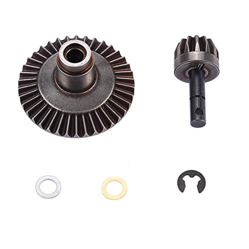 Gear 38t (Bunner 13T 38T Metal Crown Differential Main Gear Kit for Front/Rear Axle AXIAL SCX10 90021 90022 RC Off-Road Bigfoot Truck Car)