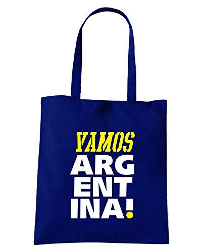 T-Shirtshock - Bolsa para la compra T0699 vamos argentina calcio ultras Azul Marino