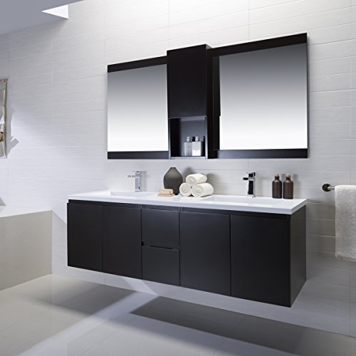 Vanity Adams 72 With Solid Surface Top. Espresso Finish