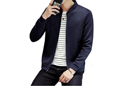DOUBLE A メンズ ジャケット ジャンパー ブルゾン ゴルフ 黒 XL [並行輸入品]