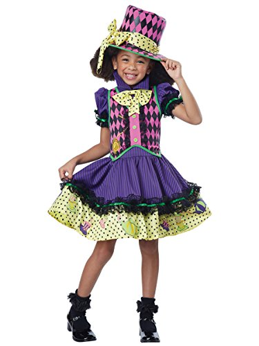 California Costumes Deluxe Mad Hatter-Ess Costume, Multi, Medium (Mad Hatter Halloween Party)