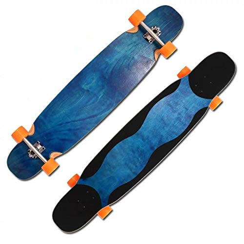 HUAby-B ☝HB Water Ripple Wave Skateboard, Lengthen 46'' Brush Street Road Board, Outdoor Extreme Sports 505 (Ripple Wave Board)
