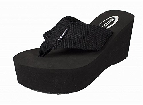 Soda Oxley-S Flip-Flop Sandals New Black 6
