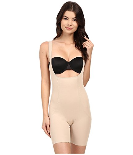 Miraclesuit Shapewear Women's Back Magic Extra Firm Torsette Thigh Slimmer Nude Small