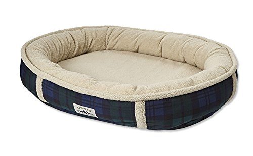 Orvis Wraparound Fleece Dog Bed Cover / Large, Black Watch, by Orvis
