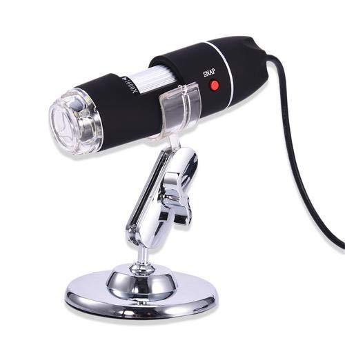 1000X USB Mikroskop, 8 LED Digital Vergrößerung Endoskop mit Metallständer Max 1600X für Mac Windows 7 8 10 Linux…