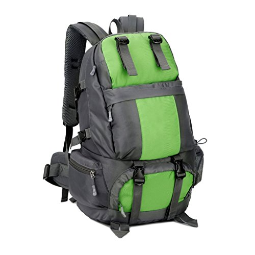 And zyy Outdoor Color Green Black 50L Traveling Seasons Universal Men Backpack Shoulders Nylon Green Women Waterproof Backpack Four Sports rr0BUxw
