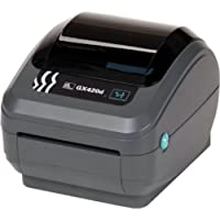 Zebra GX42-202411-000 GX420D Direct Thermal Printer, 203 DPI, Monochrome, 6 H x 6.75 W x 8.25 D, With Serial/Ethernet/USB Connections and Label Dispenser
