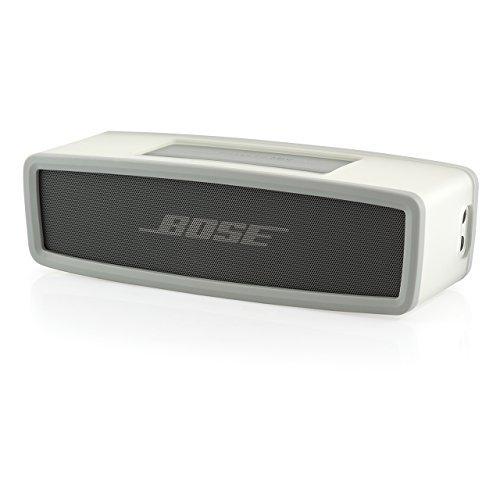iProtect Schutzbox Abdeckung für Bose SoundLink Mini, SoundLink Mini Bluetooth Speaker ll Lautsprecher Soft Cover Case in transparent und grau