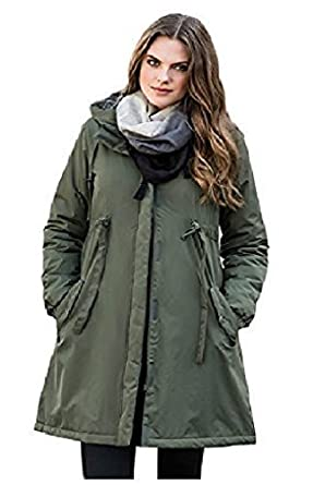 Holiday suitcase-Ladies womans winter khaki parka coat. size 6-20 ...