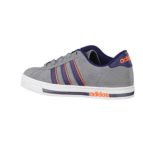 adidas Neo - Zapatillas de Piel Para Niño Grey/Collegiate Navy/Solar Orange Grey/Collegiate Navy/Solar Orange