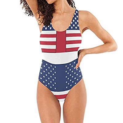 Womens Swimsuits American Flag Printables Bathing Suits One Piece Tankini