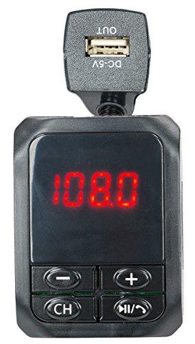 QFX USA QFX FMT-5 Bluetooth Car FM Transmitter & 2.1A Dua...