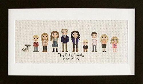 Amazon Personalized Cross Stitch Family Photo Handmade