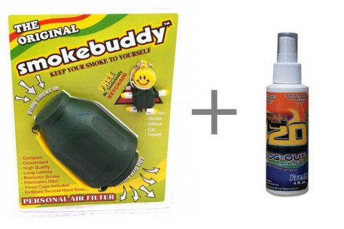 uddy - Personal Air Filter / Purifier AND Formula 420 Smog-Out Odor Nuetralizer ()