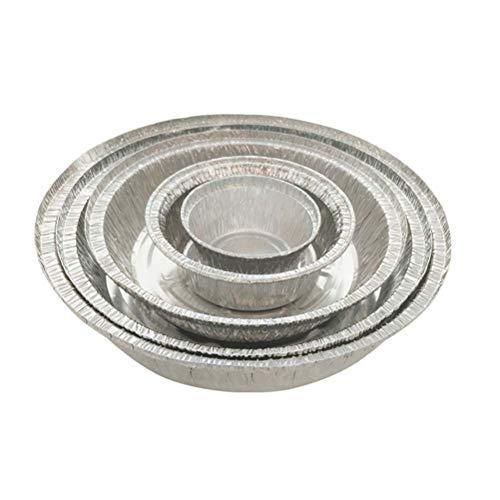 ... de aluminio Tarta de tarta Pands sartenes para hornear redondas para hornear Quiche Party Potluck Catering 285ML (Sin tapa): Amazon.es: Hogar