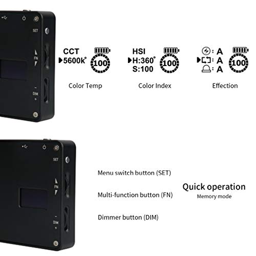 TADAMI Vlogger Boling P1 Handheld RGB led Video Light 2500K-8500K Bi-Color Camera & Photo Accessories (Black) by TADAMI (Image #4)