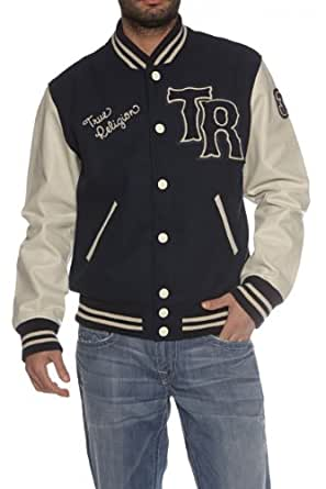 True Religion Blouson RICHIE VARSITY, Color: Dark blue, Size: L