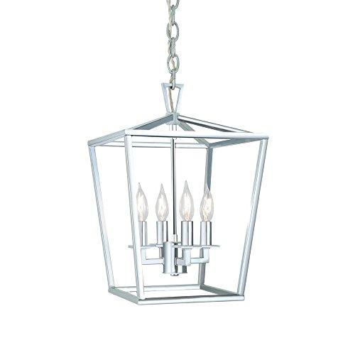 Chrome Lantern Pendant Light in US - 1