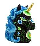 Fortune Telling Toys Black and Blue Unicorn Bank Spiritual Ritual Supplies