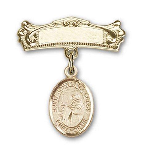 Icecarats Or Bijoux De Créateurs Rempli R. John Du Charme Croix Voûté Pin Badge 7/8 X 3/4