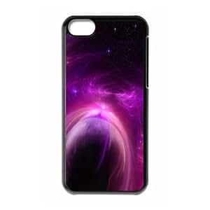 iPhone 5C Case,Purple Solar Storm Hard Shell Back Case for Black iPhone 5C Okaycosama371058