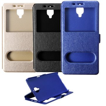 Mobile Phones & Accessories - Flip Dual View Window Pupc Leather Protective Cover - Multiple Windowpane Underwrite Lawsuit Double Insure Suit Twofold Hide Instance Double Windowpane Check