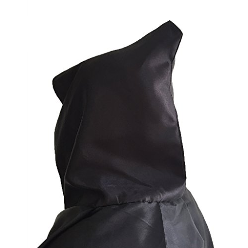 Charming House Halloween Unisex Hooded Long Cape Cloak Cosplay Costume (Black) by Charming House (Image #4)