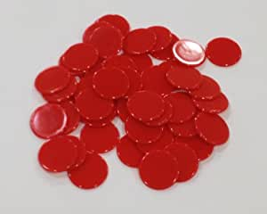 Amazon Com Plastic Counters Red Color Gaming Tokens