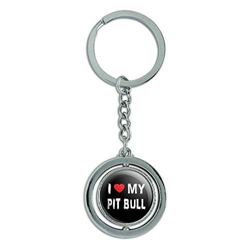 Stylish Spinning Round Metal Keychain