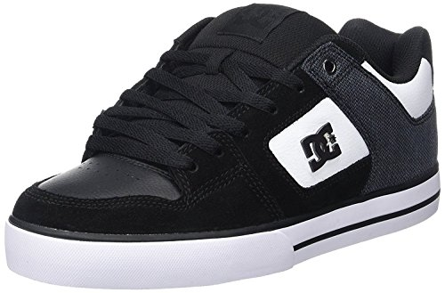 DC Pure SE Black White Leather Mens Skate