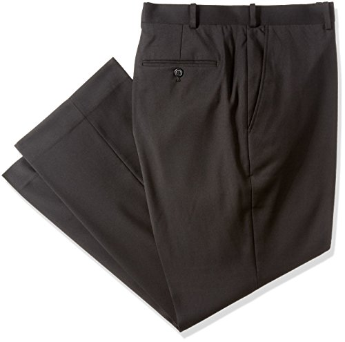 Adolfo Men's Flat Front Micro Tech Portly Suit Pant
