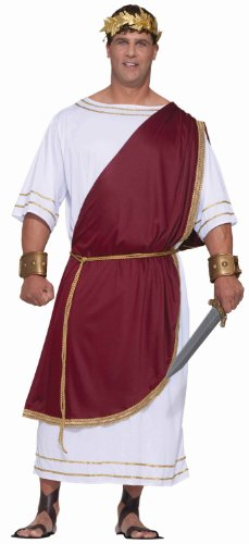Toga! Toga! Plus Size Costumes (Forum Novelties Men's Plus-Size Extra Big Fun Mighty Caesar Costume, Multi, 3X-Large)