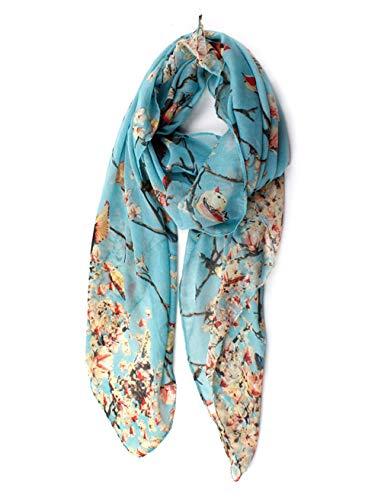 - ctshow Spring birds Print Voile Print Scarf Fashionable Women Scarves shawl