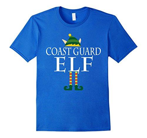 [Men's Coast Guard Elf Shirt - Funny Christmas Costume Gift XL Royal Blue] (Royal Guards Costume)