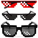 [2 Pack] Thug Life Sunglasses, Men Women Glass 8