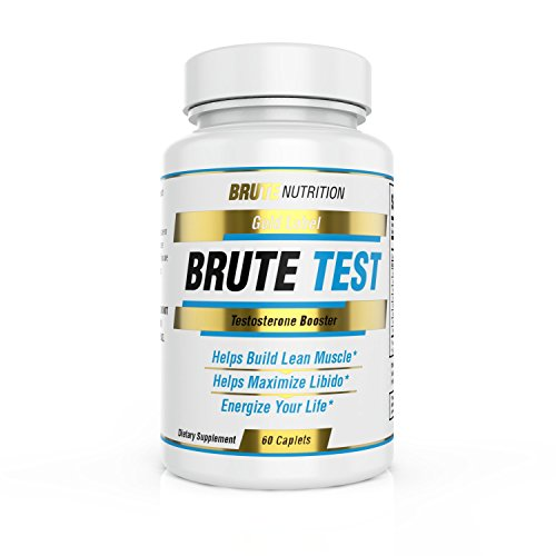 Brute Test Testosterone Supplement (60 Caplets) - Natural Stamina, Endurance and Strength Booster - Fortifies Metabolism and Sexual Libido - Promotes Healthy Weight Loss and Rapid Fat Burning - Sleep Booster