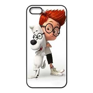 Sr. Peabody y Sherman iPhone 5 5S caja del teléfono celular funda Negro caja del teléfono celular Funda Cubierta EEECBCAAL70887
