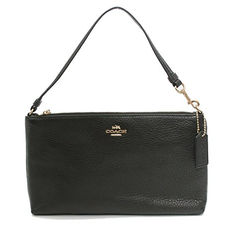 Coach Pebbled Leather Large Wristlet by Coach