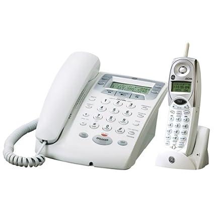 amazon com ge corded 2 4 ghz 27881ge2 phone with cordless handset rh amazon com GE Cordless 5.8 Gigahertz Phone GE Freezer Manual