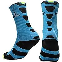 Peak Men's Basketball Comfortable Breathable Running Socks (Blue)