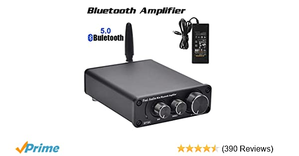 Bluetooth 5 0 Stereo Audio Amplifier Receiver 2 Channel Class D Mini Hi-Fi  Integrated Amp for Home Speakers 50W x 2 TPA3116 - Fosi Audio BT10A