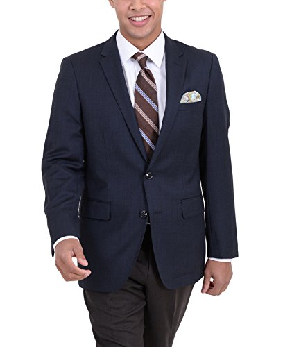 Hopsack Navy Blazer - Arthur Black Classic Fit Navy Hopsack Weave Two Button Wool Blazer Sportcoat