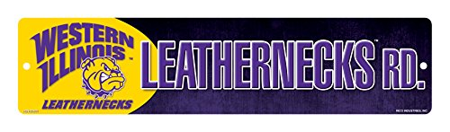 (NCAA Western Illinois Leathernecks 16-Inch Plastic Street Sign Décor)