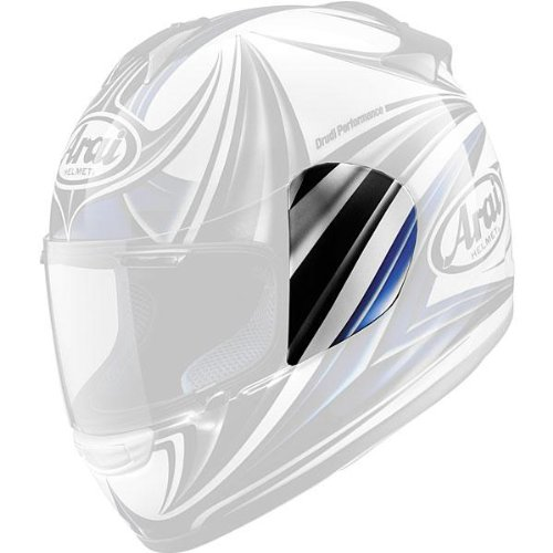 Arai Helmets Shield Cover Set - Dynamic Blue (Arai Helmet Shield Cover)