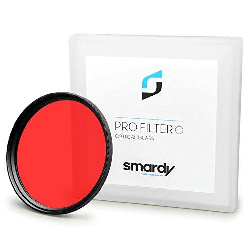 smardy Filtro de Color Rojo 49 mm para Sony Alpha 3000 | Alpha 7R | NEX-3 | NEX-5 | NEX-5N | NEX-5R | NEX-7 | NEX-C3 | NEX-F3 y Mucho mas + High-Tech pano de Limpieza