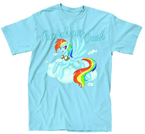 My Little Pony Rainbow Dash Nose Art Mens Light Blue T-Shirt | M